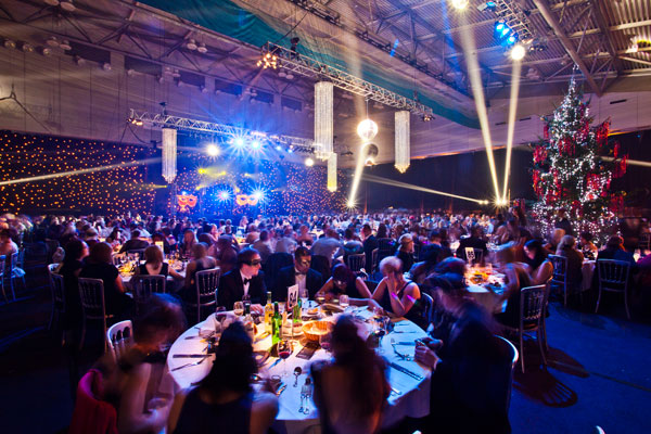 Ponds Forge Venue Hire S1- Guests enjoying a shared christmas party night