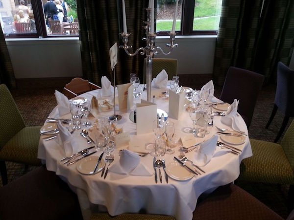 Westerwood Resort Hogmanay G68 table set up for a party