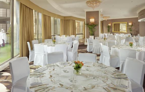 Sheraton Park Tower Summer Party SW1- Private dining room set out for summer party guests