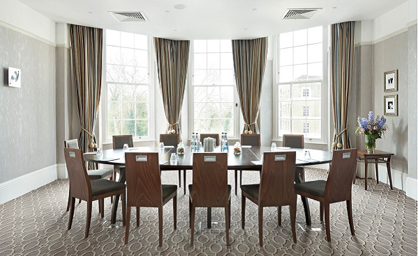 Richmond Hill Hotel TW1- Function room set out for a private summer dinner party