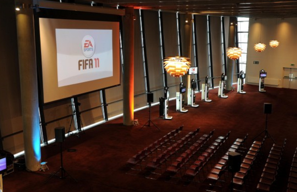 Arsenal Conference Venue N5- Main suite set out theatre style for a conference meeting