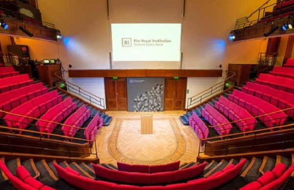 Royal Institution of Great Britain Conference Venue W1- Theatre lay out for a conference