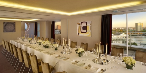 Wyndham Grand Hotel Summer Party SW10- Private dining room set out for a summer party meal