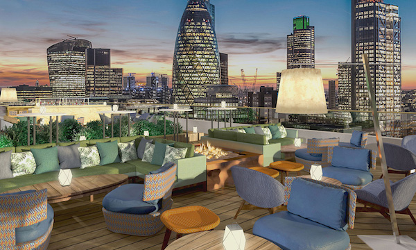 Aviary Rooftop Terrace Summer Party EC2A