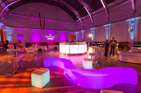 Royal Horticultural Venue Hire SW1P main room dressed for event