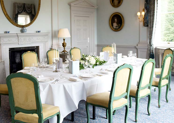 Cliveden House Summer Party BH25- Dining room set out for private summer party