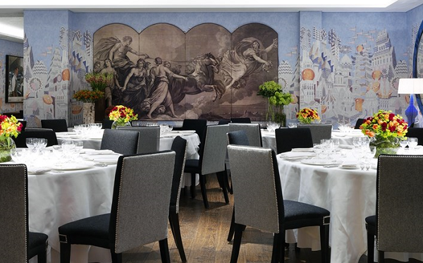 Soho Hotel Venue Hire W1D- Indigo function room set out for a private dining