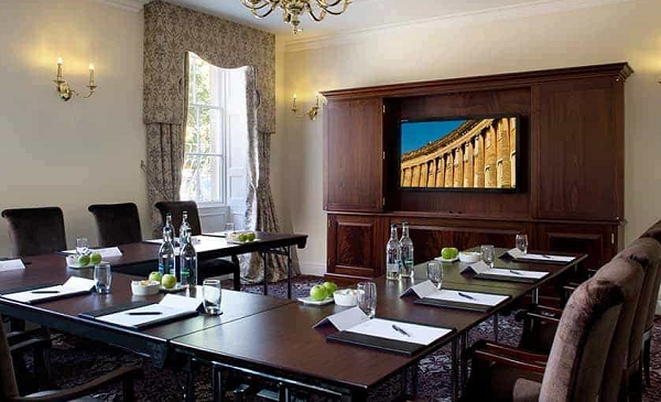 Bailbrook House Venue Hire BA1- Meeting room set out for a board meeting