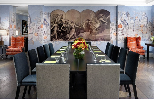 Soho Hotel Venue Hire W1D- Indiog room set out for a meeting