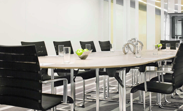 W London Leicester Square Conference Venue W1D- Meeting room set out for a boardroom style meeting