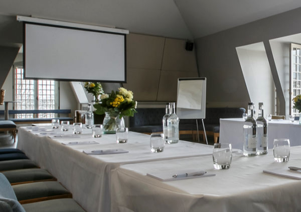 Swan London Bar & Restaurant Venue Hire SE10- Meeting room set out for a small board room meeting