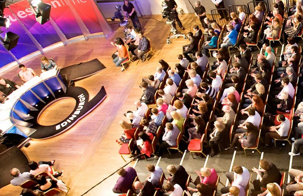 Mansfield Traquair Venue Hire EH3- Question time set out in the main hall