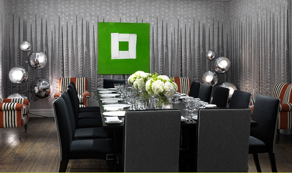 Soho Hotel Venue Hire W1D- Sandra Blow function room set out for a private dinner