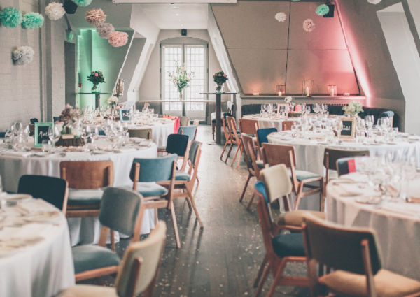 Swan London Bar & Restaurant Venue Hire SE1- Wedding reception set out in the main function room