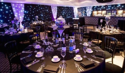 Lords Cricket Ground Christmas Party Venue NW8- Christmas dinner party set out in the main function room